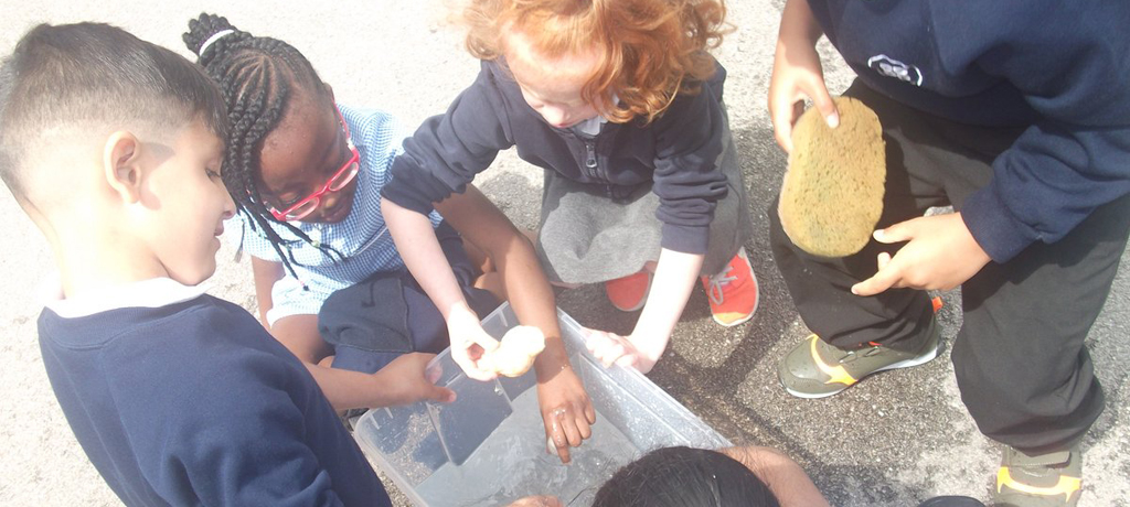 Experimenting with water in Year 1